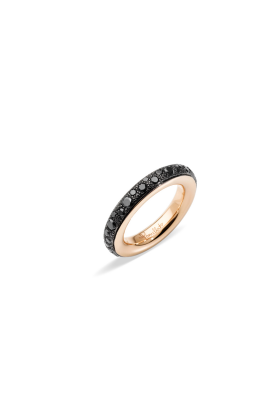 Pomellato Ring Rose Gold and Black Diamonds