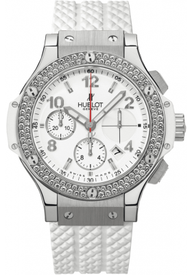 Hublot 41mm Steel White Diamonds