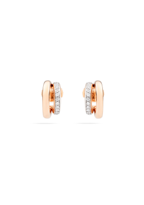 Pomellato Earrings Rose Gold and Diamonds