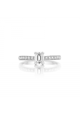 SLAETS Fine Jewellery Fancy Shape Diamond Emerald-cut Ring