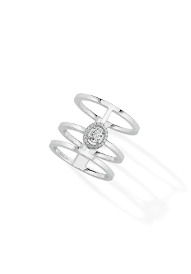 Messika Ring 3 Rows White Gold