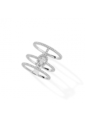 Messika Ring 3 Rows Pavé